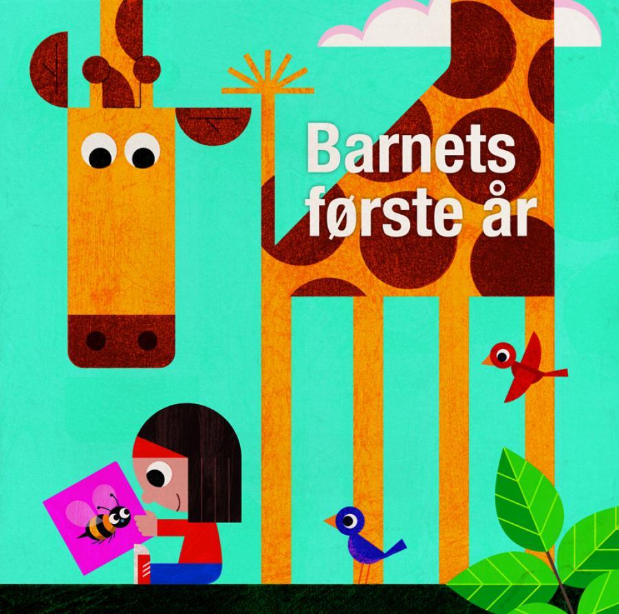 Barn og giraf der læser