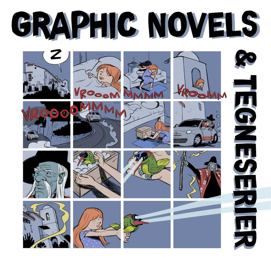 litteraturfolder om tegneserier