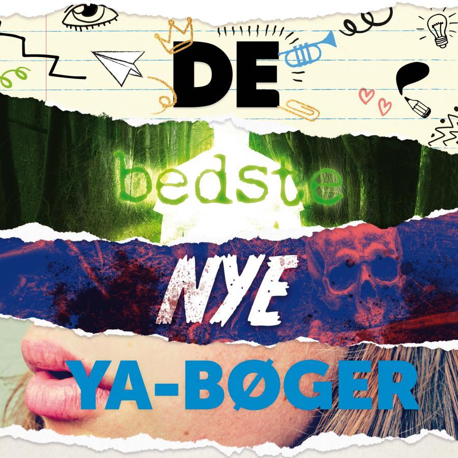 Collage med teksten de bedste nye YA-bøger